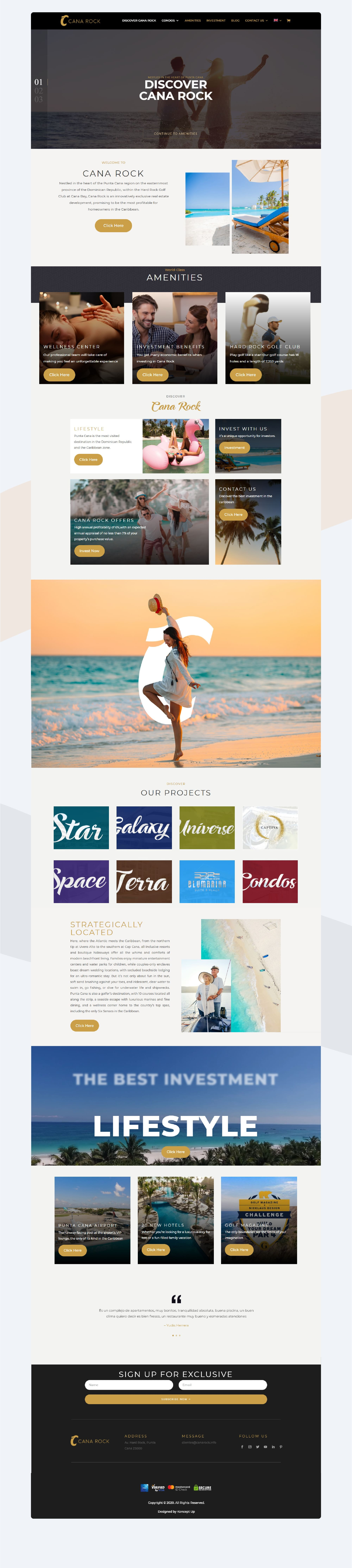Landing Page Cana Rock